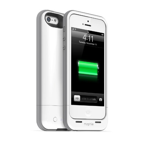mophie Juice Pack Plus for iPhone SE/5s/5 - Whitecompatible. (Protective Charger Mophie 4s compare prices)