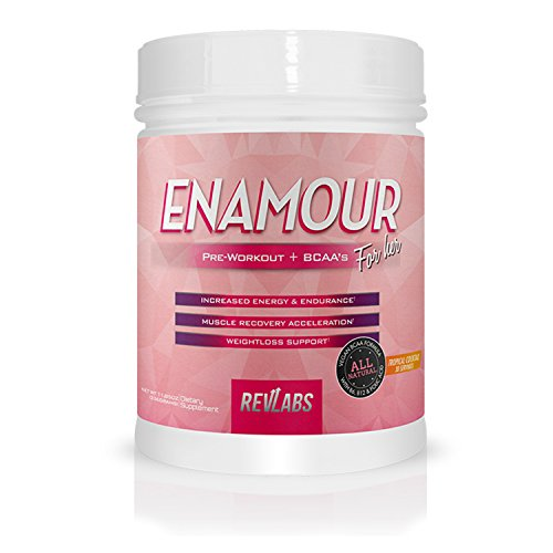 Benefits Branch Chain Amino Acids - RevLabs ENAMOUR Womens Pre-workout For Her with added Branch Chain Amino Acids (Tropical Cocktail)