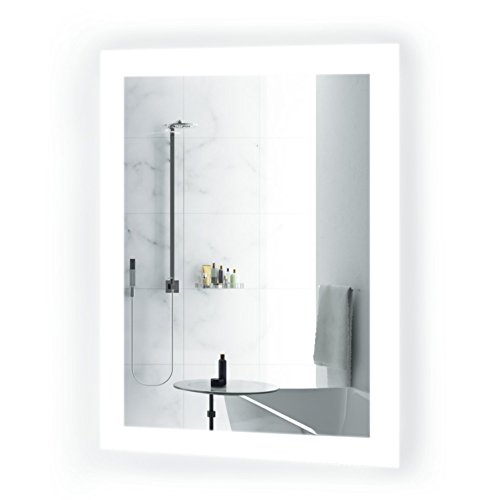 Krugg Small LED Bathroom Mirror 15 Inch x 20 Inch | Lighted -