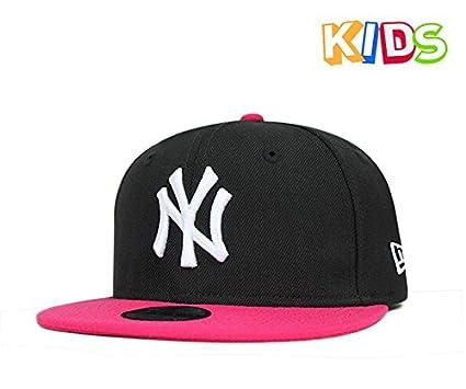 b38b0011582ec Amazon.co.jp: NEW ERA(ニューエラ) キッズ スナップバック キャップ ニューヨーク ヤンキース ブラック 帽子:  服&ファッション小物