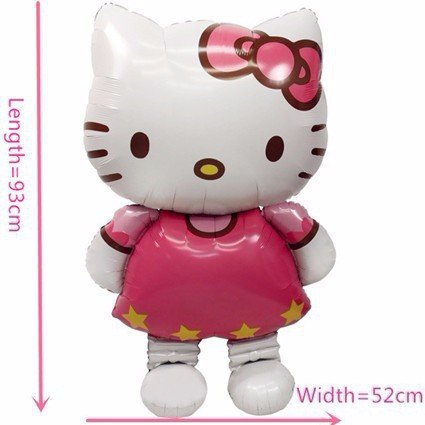 Mermaid Little Costume Broadway (11665cm Oversized Hello Kitty Cat foil balloons cartoon birthday decoration wedding party inflatable air balloons Classic)