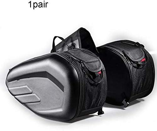 カーボンファイバーケース防水オートバイボックスサドルバッグサイドバッグ機関車長距離旅行大容量バッグ