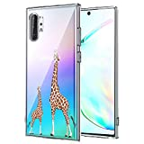 for Galaxy Note 9 Case Clear, Cover for Samsung Note 9, SevenPanda Ultra Slim Transparent Soft TPU Silicone Pattern Flexible Protector Cover Case for Samsung Galaxy Note 9 2018 - Mother & Child Giraffe