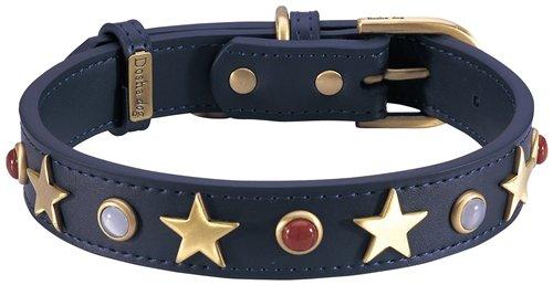 Dosha Dog CAD-10 S American Dog Collar, Small, Blue