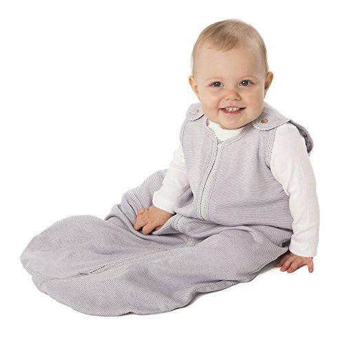 Price comparison product image baby deedee Sleep Nest Lite Baby Sleeping Bag, Gray Stripes, Small (0-6 Months)