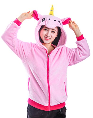 AooToo Unicorn Jacket Hoodies for Girls Costumes Sweatshirt