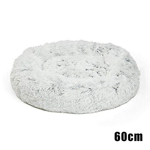 Baovery Shag Faux Fur Donut Cuddler Cat Bed Warm Plush Dog Puppy Mat Pet Bed