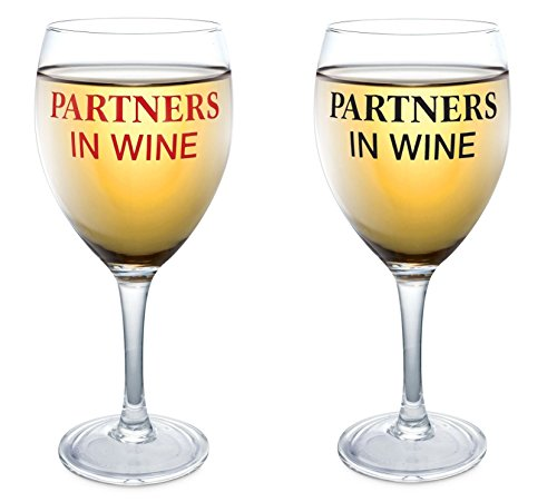 Partners In Wine Glass Set - (Cute Wine Glasses)