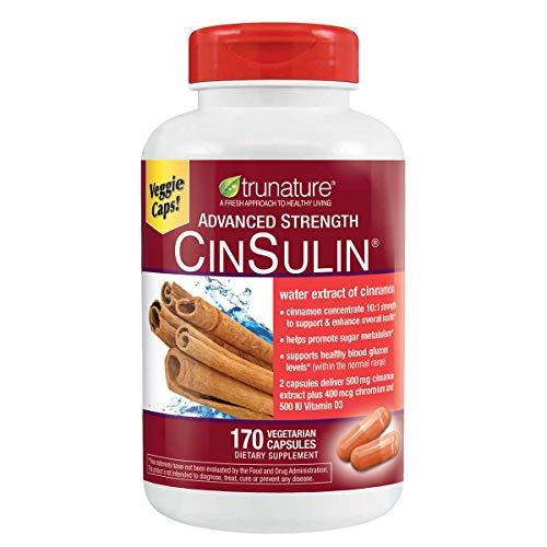 Trunature Advanced Strength Cinsulin 2Pack (170 Capsules Each ) zK$KJf