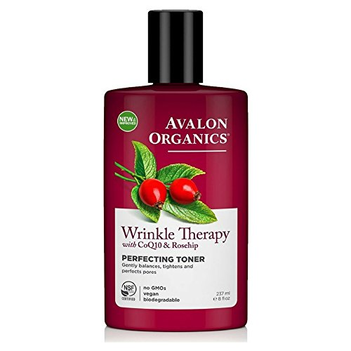 Avalon Organics Wrinkle Therapy with CoQ10 & Rosehip Perfecting Toner 8 ()