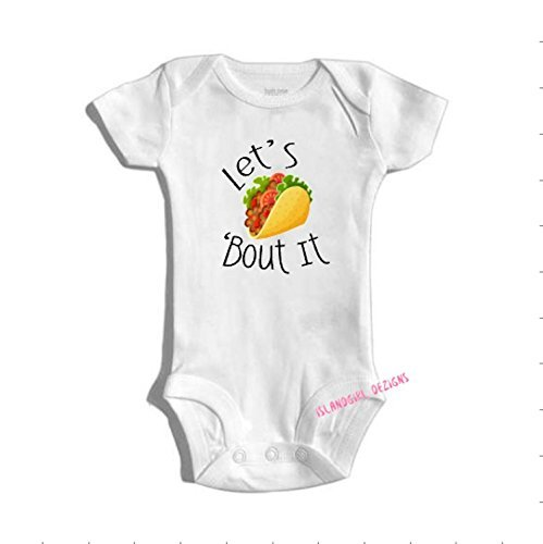 LET'S TACO 'BOUT It bodysuit / onesie® /creeper outfit -funny baby onesie®, Cute Baby, Gender Neutral, Shower Gift, Baby Gift