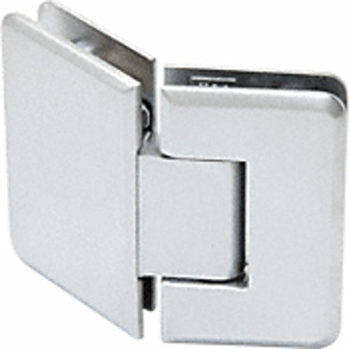 Satin Chrome 135 Glass - CRL Trianon 045 Series Satin Chrome 135° Glass-to-Glass Hinge