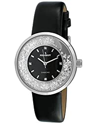 Diamond Floating In Bezel With Leather Strap