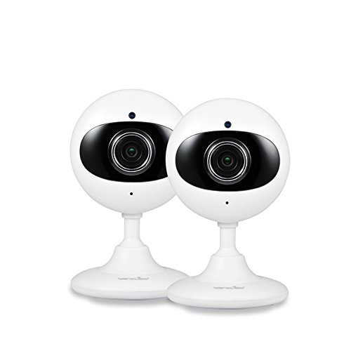 Wansview Home Security Camera, 720P WiFi Wireless IP Camera for Baby /Elder/ Pet/Nanny Monitor Two-Way Audio & Night Vision K2- 2 packs (white)