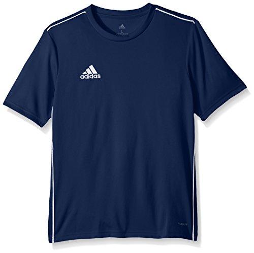 adidas Kids Youth Soccer core18 Training Jersey, Dark Blue/White, Medium