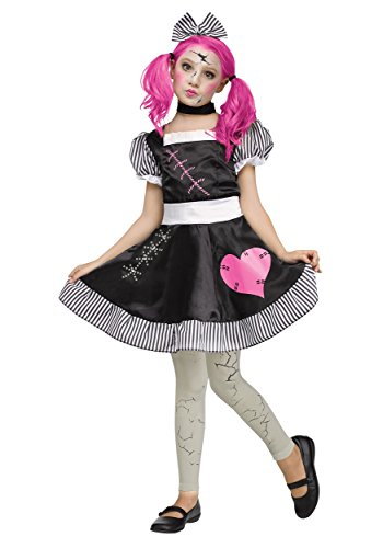 Creepy Doll Costumes For Kids (Broken Doll Child - Small)