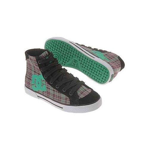 DC Women's Chelsea Mid Sneaker,Black/Pink,5 M