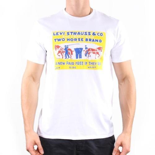 Para hombre Levis Retro Graphic Caballos - Camiseta de color blanco: Amazon.es: Ropa y accesorios