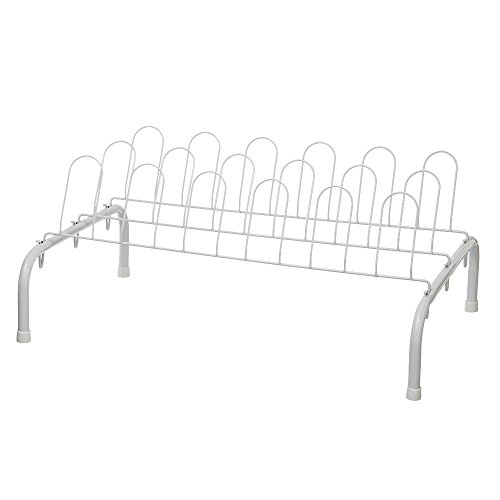 ClosetMaid 1039 9-Pair Freestanding Shoe Rack, White