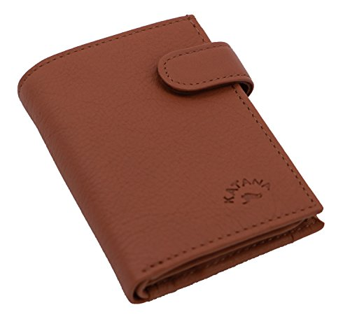 leather cowhide 753196 Wallet cowhide Brown KATANA KATANA 753196 Brown Wallet leather qEn8Apc