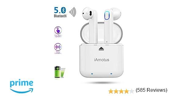 Auriculares Bluetooth, iAmotus Auriculares Inalámbricos Bluetooth 5.0 TWS Auriculares Bluetooth Deportivos con Micrófono Cancelación de Ruido CVC 8.0 ...
