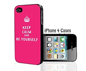 KEEP CALM and BE YOURSELF iPhone 4/4s case