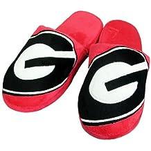 Georgia Bulldogs 2010 Official NCAA Big Logo Hard Sole Plush Slippers Size Large