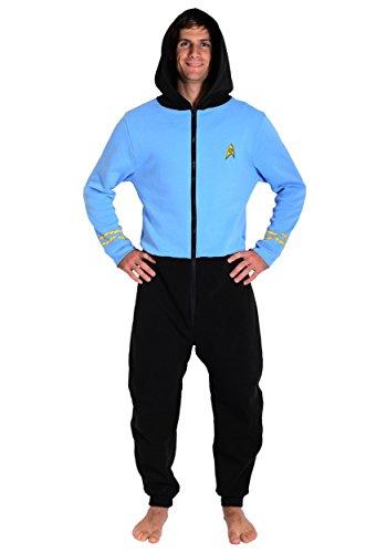 Star Trek Blue Spock Adult Pajama Onesie Small/Medium -