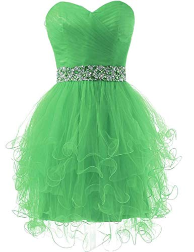 ASBridal Party Beaded Lime Short Dress Cocktail Homecoming Waist Dress Strapless Princess TqZTwaxrI