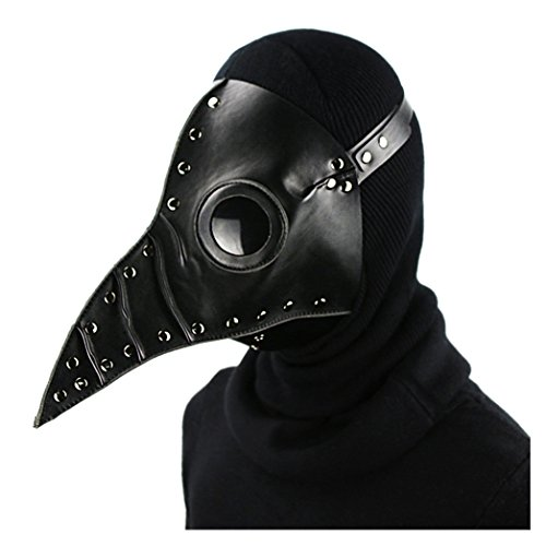 Quner Halloween Mask, Pest Bird Doctor Beak Mask Pest Mask Cosplay, Retro Rock Party Masks Steampunk Costume Decoration for $<!--$50.99-->
