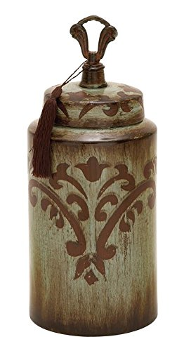 deco-79-ceramic-jar-17-by-7-inch-brass-brown