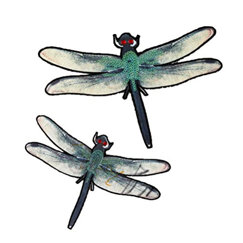Craft Badges (Hot Sale! AMA(TM) Pack of 2 Butterfly Dragonfly Collar Iron On Applique Sew Patch Sticker Badge DIY Embroidered Garment Decoration Craft (B))