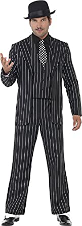 1930s Men's Costumes: Gangster, Clyde Barrow, Mummy, Dracula, Frankenstein Smiffys Vintage Gangster Boss Costume $61.23 AT vintagedancer.com