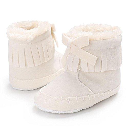 Xshuai Baby Mädchen Soft Sole Beuten Anti-Rutsch Schnee Stiefel Kleinkind Neugeborene Warming Schuhe Weiß