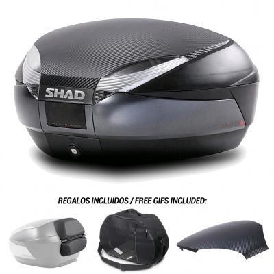 SHAD - Baul maleta SH48 + tapa + respaldo + bolsa interna