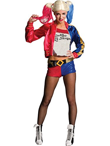 Rubie's Costume Co Women's Suicide Squad Deluxe Harley Quinn Costume, Multi, Small