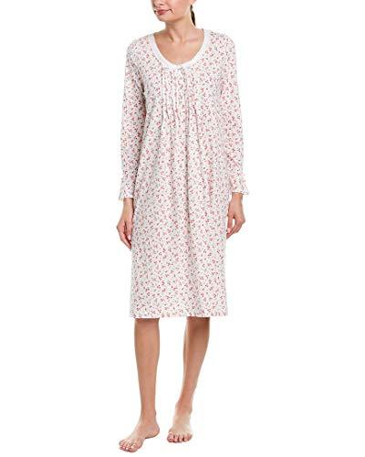 Carole Sleepshirt - Carole Hochman Women's Sleeve Long Nightgown, red Ditsy Floral, L