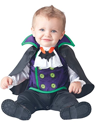 [InCharacter Baby Boy's Count Cutie Vampire Costume, Black/Purple, Small] (Toddler Vampire Halloween Costumes)