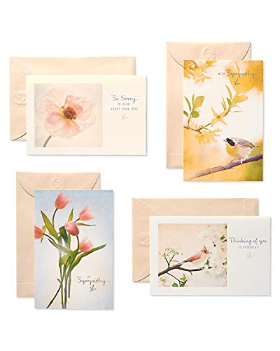 American Greetings Assorted Sympathy Cards and Cream Envelopes, 12-Count