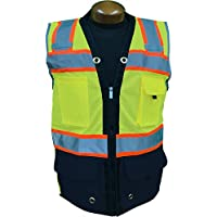 SHINE BRIGHT SOFT High Visibility Zipper Front Safety Vest with Reflective Strips ANSI CLASS 2|