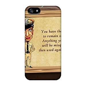 Anti-scratch Case Cover LastMemory Protective Remain Silent Case For Iphone 5/5s