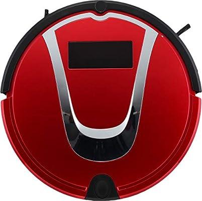 E-KIA Robot Aspirador Aspiradoras Sin Cable SuccióN Alta con Brocha Batidora, Autocarga AutomáTica, Sensor De CaíDa, Funciona En Pisos Duros Y Alfombras,Red