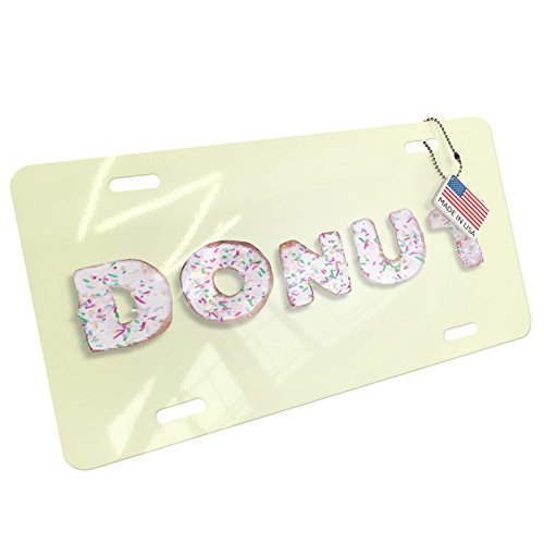 Metal License Plate Donut Glazed Doughnuts Donuts - Neonblond - Drilled Donut