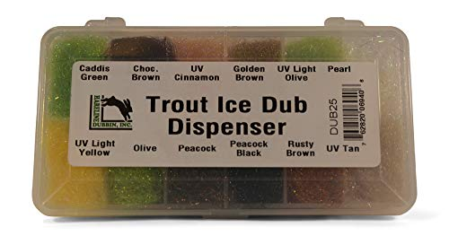 Hareline Custom Trout Ice Dub Dispenser - 12 Popular Colors - Fly Tying