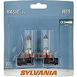 SYLVANIA H11 Basic Halogen Headlight Bulb, (Contains 2 Bulbs)