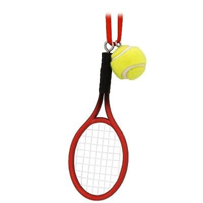 Tennis Racquet and Ball Ornament