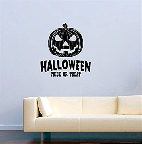 Yeuvavay Wall Stickers Art Decor Decals Halloween Trick Or Treat for Living Room Bedroom Boys Room Girls Room ()
