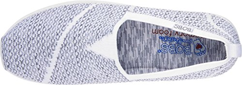 Skechers Bobs Mujer Super plush-long elástico soporte de White/Black 1