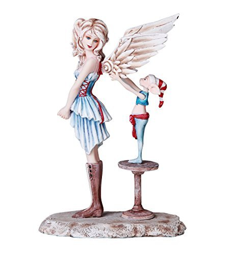 Pacific Giftware Christmas Collectible Angel Gets Her Wing Decorative Statue by Artist Amy Brown 7 Inch H