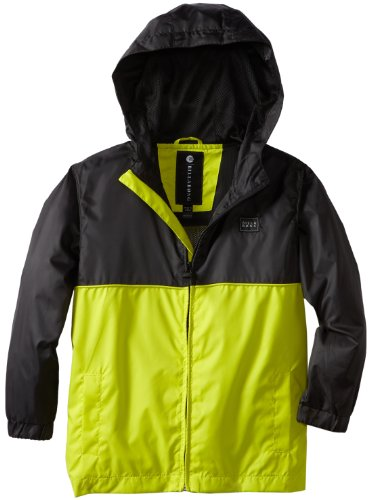 Billabong Little Boys' Solid Force Jacket, Neo Lime, 7X-Large